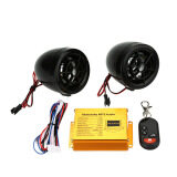 Motorcycle MP3 Player Speakers Audio Sound System FM Radio Security Alarm Wireless Remote with USB SD Slot - 2