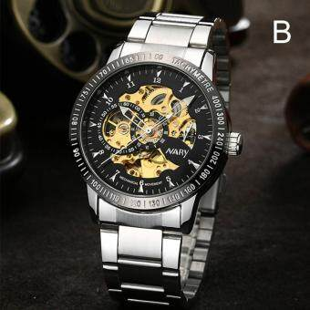 NARY Brand Luxury Sports Men's Automatic Skeleton Mechanical Military Wrist watch