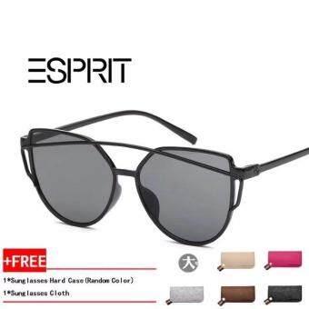 new fashion Cat Eye Sunglasses Women Mirrored Polarized Metal UV 400  Sunglasses 5317269743