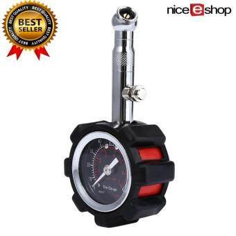 niceEshop 100 PSI Analog Tire Pressure Gauge Dial Tester Meter For Car/ Truck/ Motorcycle
