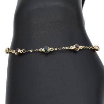 OE Unity 18K Yellow Gold Rainbow Bracelet A