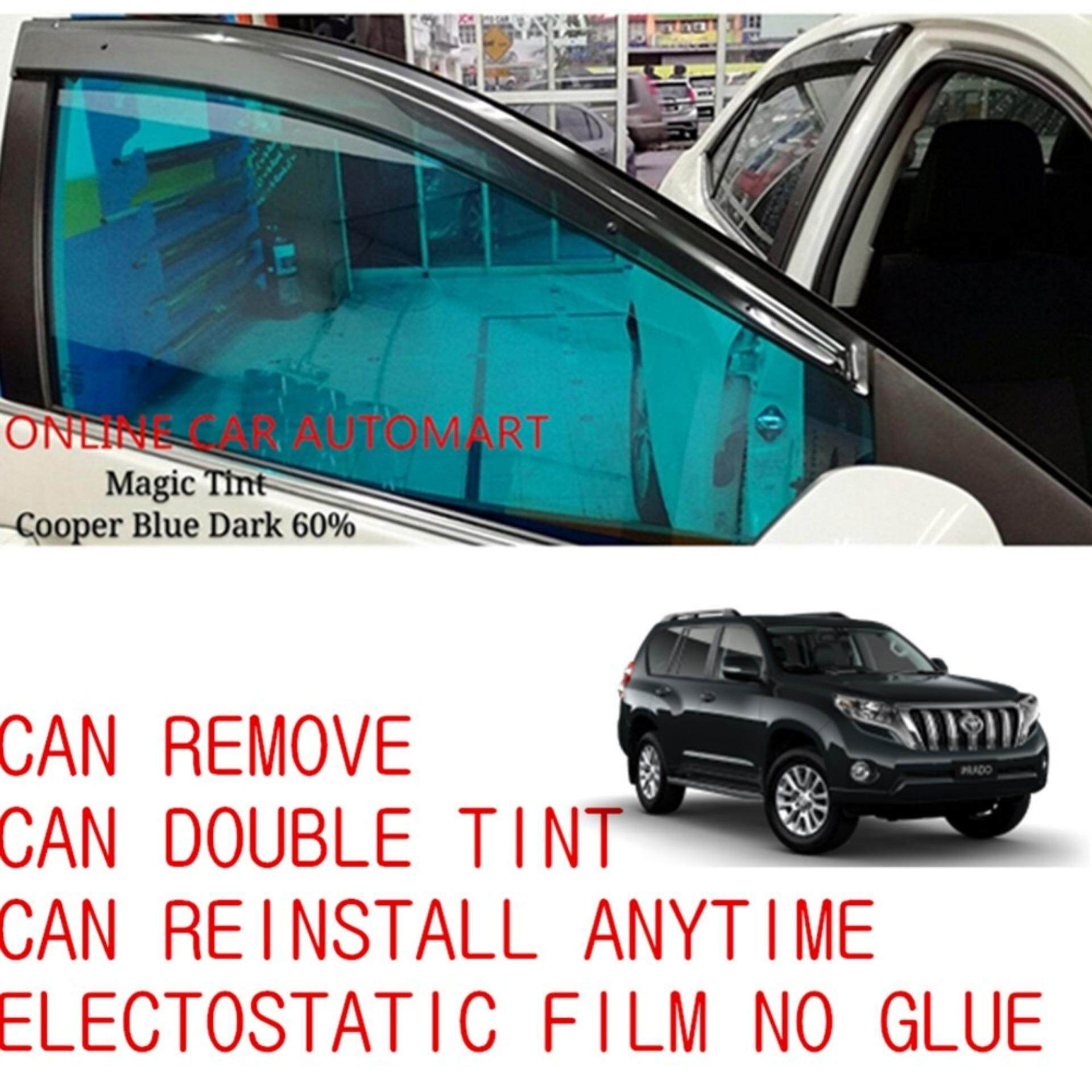 OEM Pre-Cut Shape Magic Tinted Solar Tinted (4 Windows) 60% Cooper Blue Dark For Toyota Land Cruiser Prado
