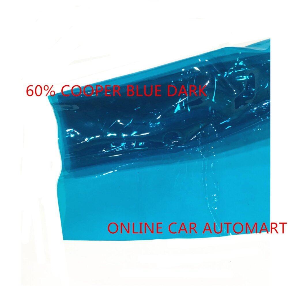 OEM Pre-Cut Shape Magic Tinted Solar Tinted (4 Windows) 60% Cooper Blue Dark For Toyota Mark X Yr 2009 Present