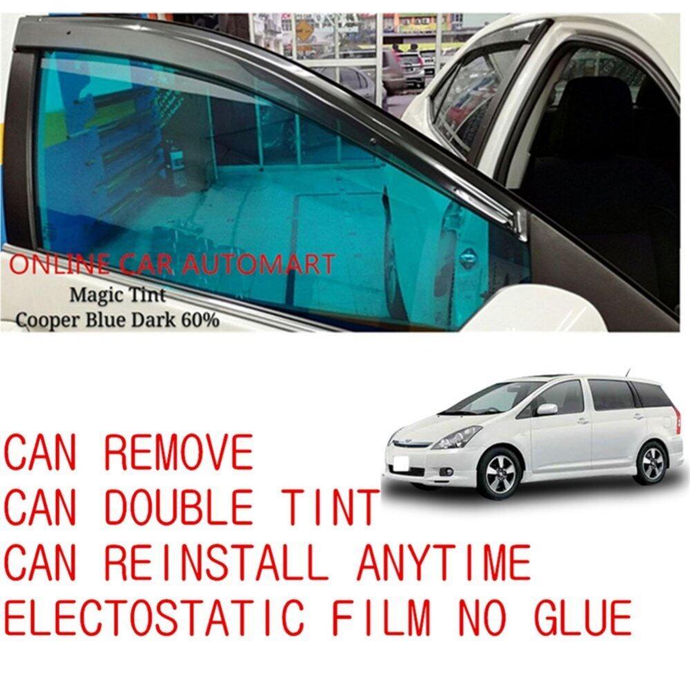 OEM Pre-Cut Shape Magic Tinted Solar Tinted (6 Windows) 60% Cooper Blue Dark For Toyota Wish Yr 2003-2009