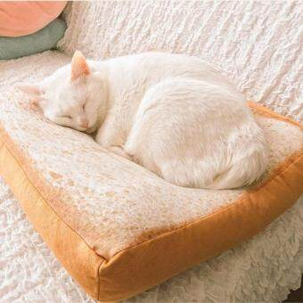Oscar Store Pet Supplies Cotton Pet Cat Toast Bread Cushion Mat Bed Sofa Plush Toys Sleeping Supplies