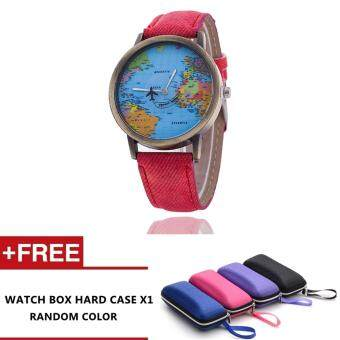 How To Buy Persil Vintage World Map Travel Around Pu Leather Strap Quartzwatch Red Malaysia July 2018