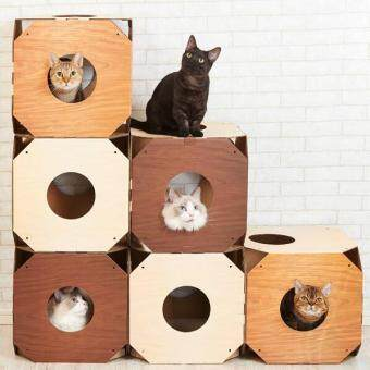 Harga Pet Cat Beds Activity Tree 1 Set (2box) (Dull Brown)