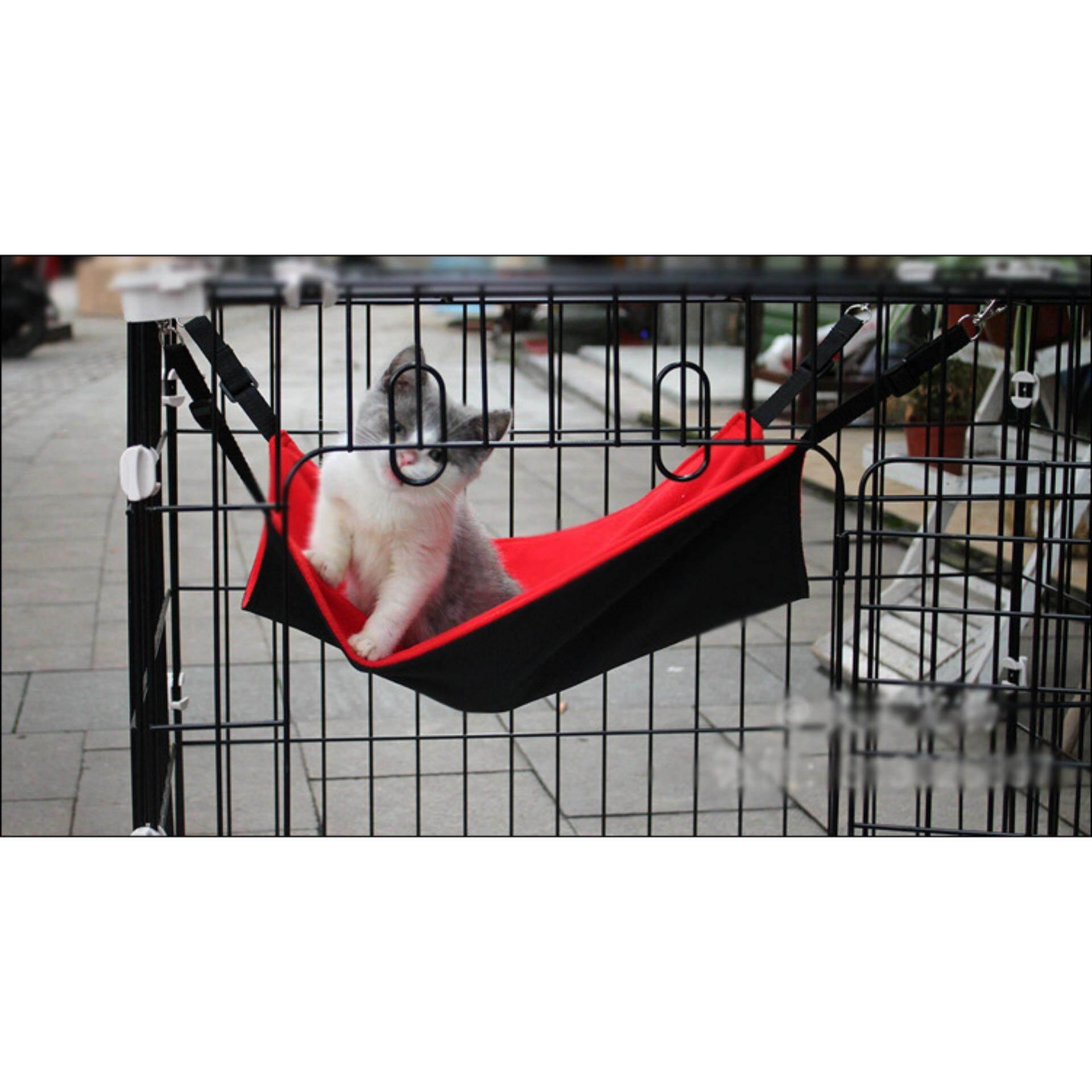 Pet Sugar Glitter Cat Kitten Sleeping Water Resistant Hammock Hanging Bed 48cm x 47cm (Red)