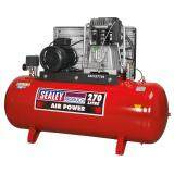 (Pre-order) Sealey Compressor 270ltr Belt Drive 7.5hp 3ph 2-Stage with Cast Cylinders Model: SAC52775B
