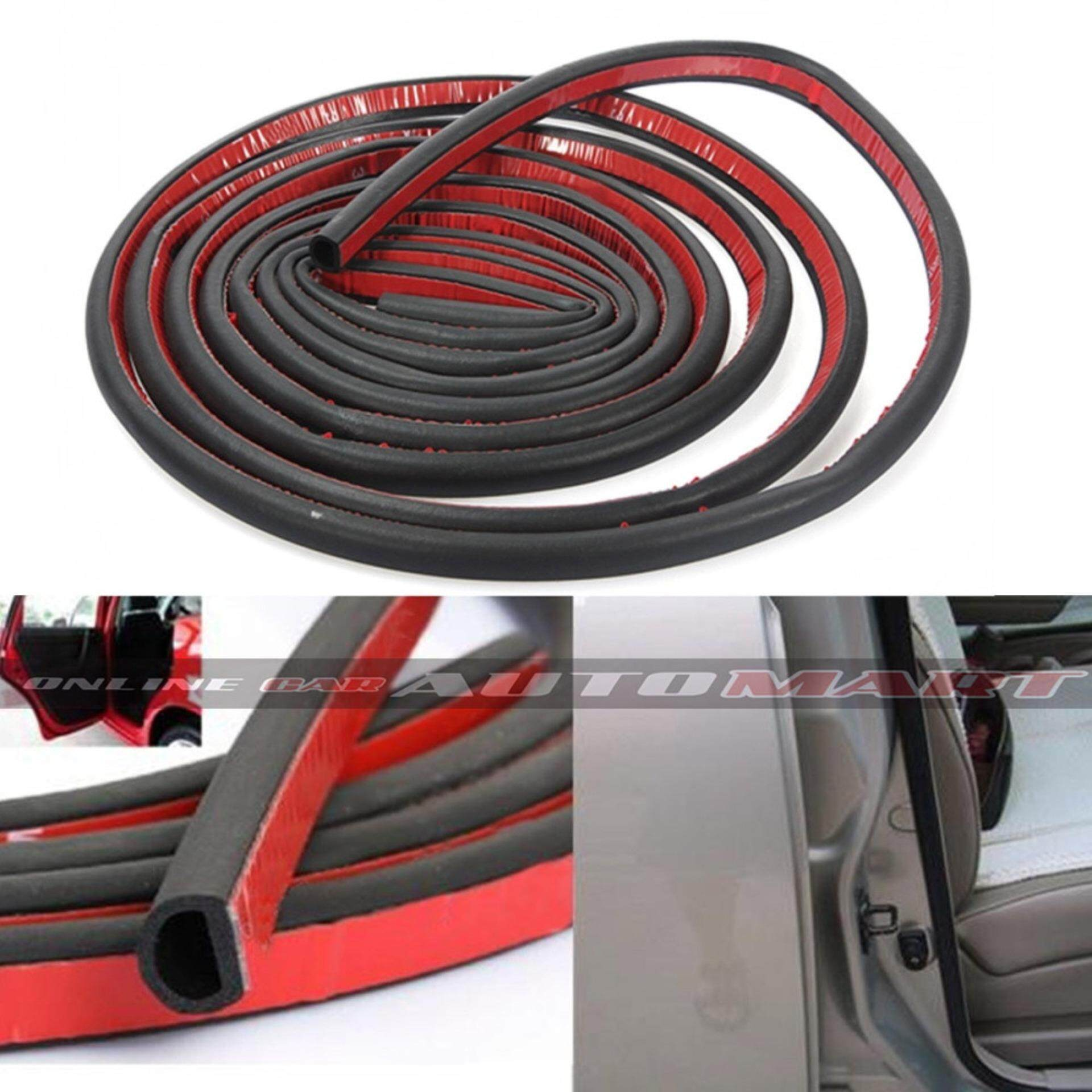 SCHEME SILENCE 4.8 Meter (Small D Shape) DIY Air Tight Slim Rubber Seal Stripe Sound & Wind Proof & Sound Proof for Car