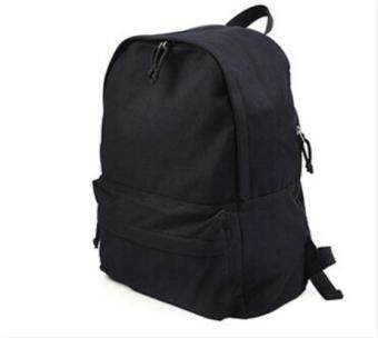 Solid Color Canvas Bottle Porket School Backpack Shoulder Starp Bagfor boys and girls