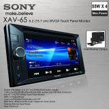 SONY XAV-65 Double Din DVD Monitor FREE Reverse Camera Car Audio Player