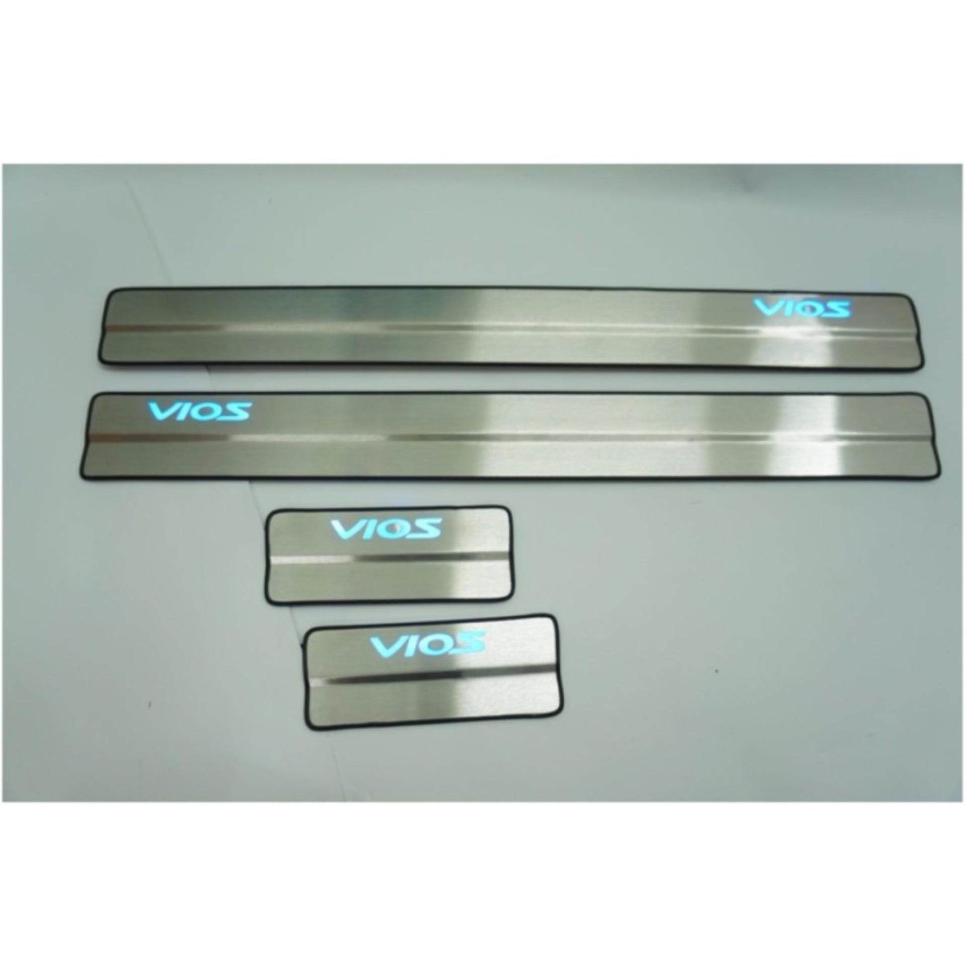 Toyota Vios 2014 Side Steel Plate/Door Side Step With Led