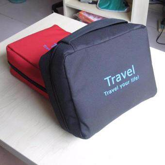 Travel Your Life Cosmetic Bag Travel Toiletries Makeup Pouch- black