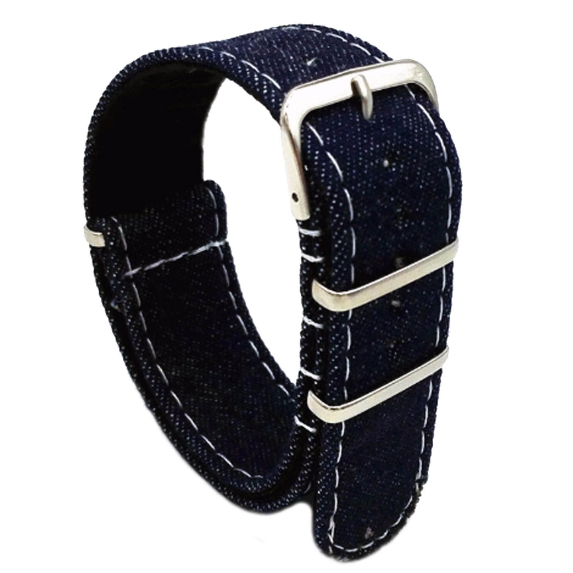 Twinklenorth 20mm Dark Blue Denim Nato Strap Nylon Military Watch Band Strap Watchband NATO-035