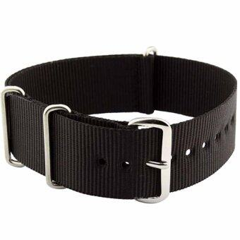 Harga Twinklenorth 22mm Black Nato Strap Nylon Military Watch Band StrapWatchband NATO-019