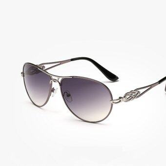 Vintage Aviation Sunglasses Women Brand Designer Oval Sun Glasses Women  Retro Glasses Sport Female(gun 4e84fef278