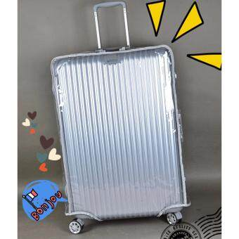 "Harga Waterproof Transparent Travel Luggage Protector Cover Size 20"" InchCabin Size"