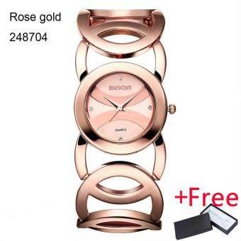 WEIQIN Brand Magic Luxury Rose Gold Watch Jam Tangan Full stainless steel  woman Fashion OL Lady 320caab12f