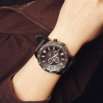 YBC Fashion Couples LED Quartz Watch Silicone Big Dial Luminous Wristwatch