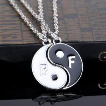 Harga Yin Yang and Two Flap Stitching Pendant Necklace Good Gift for Goodfriends