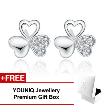 Harga YOUNIQ Clover Love CZ 925 Sterling Silver Earrings