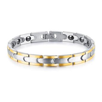 ZUNCLE Mix gold Men Bracelet Health Punk Jewelry Mix gold Black Magnet Wristbands