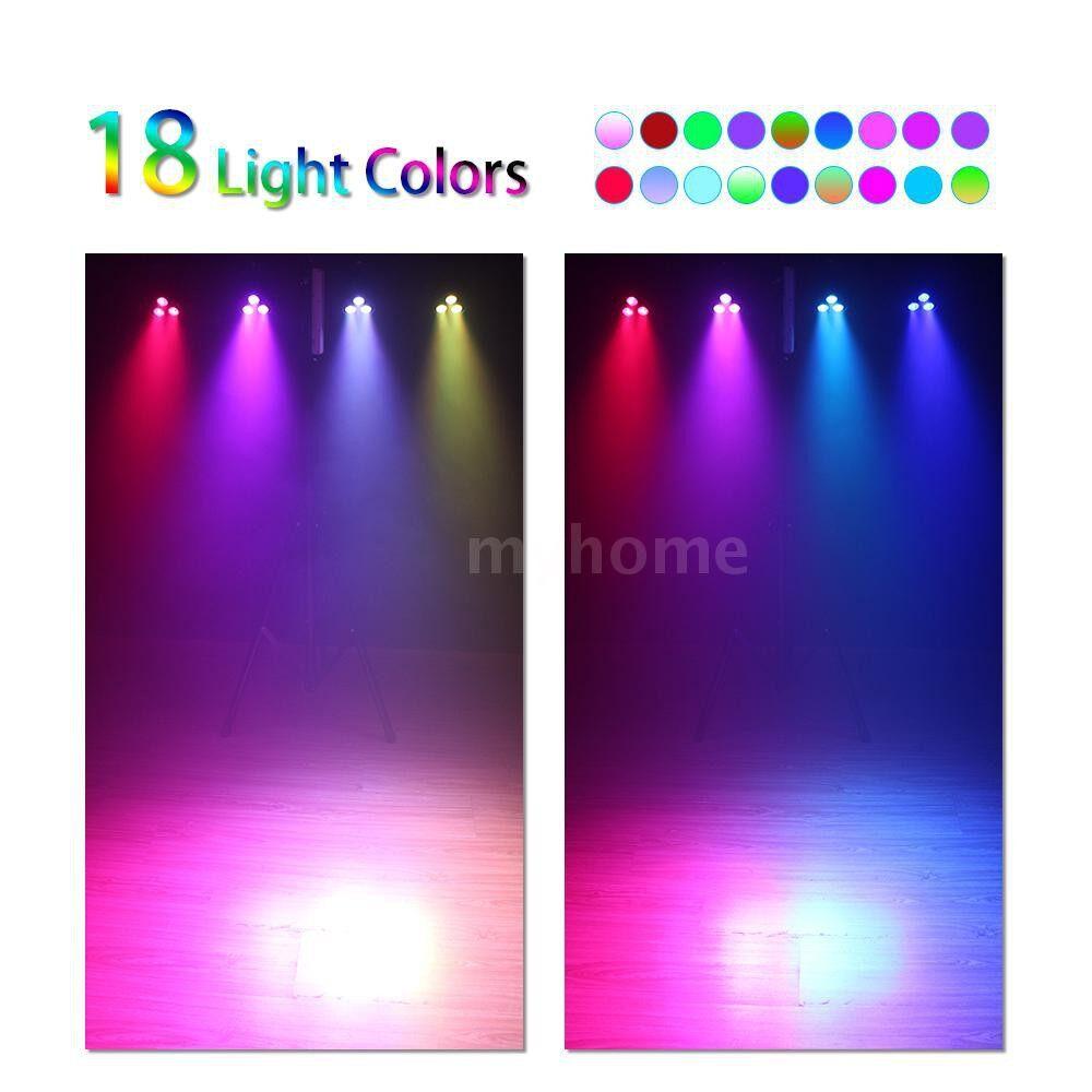 Lighting - 15W 3 LEDs 8 Channels RGBP 4-in-1 Wash Effect Stage Par Light Support DMX512 Master-slave - Home & Living