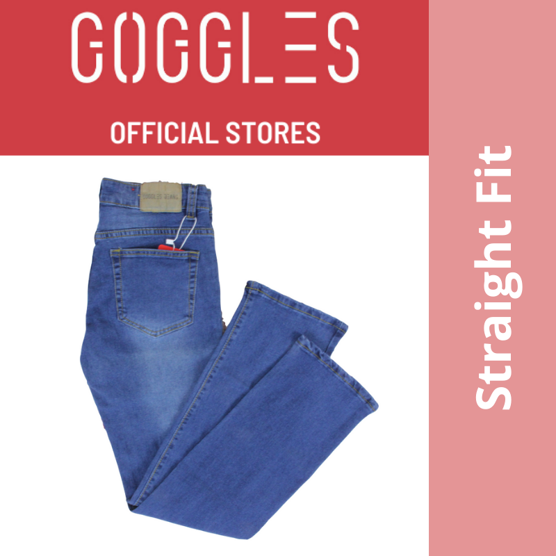 GOGGLES Ladies Denim Women Jeans Straight Fit Medium Blue 100337
