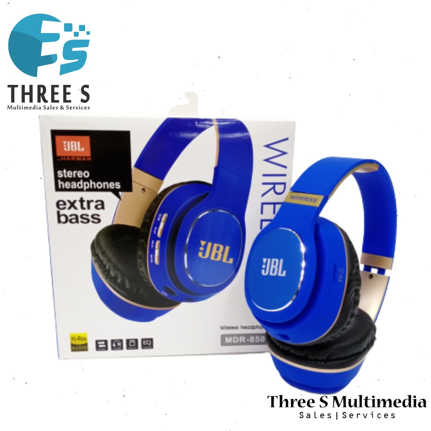 Ready Stock- JBL STEREO HEADPHONE MDR-850 EXTRA BASS