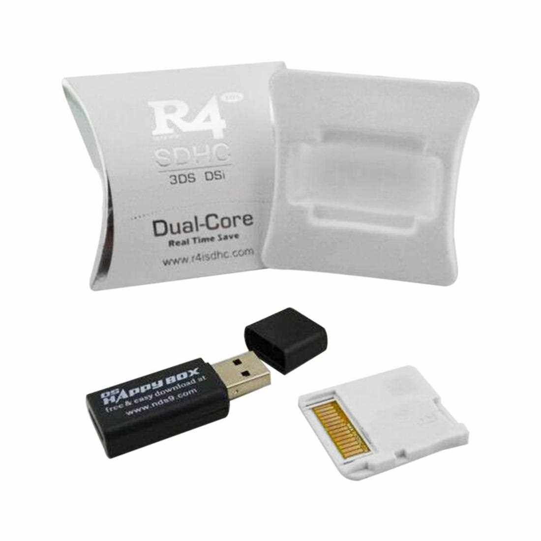 Wide Compatible R4 SDHC Micro Secure Digital Memory Card Adapter For DS (White)