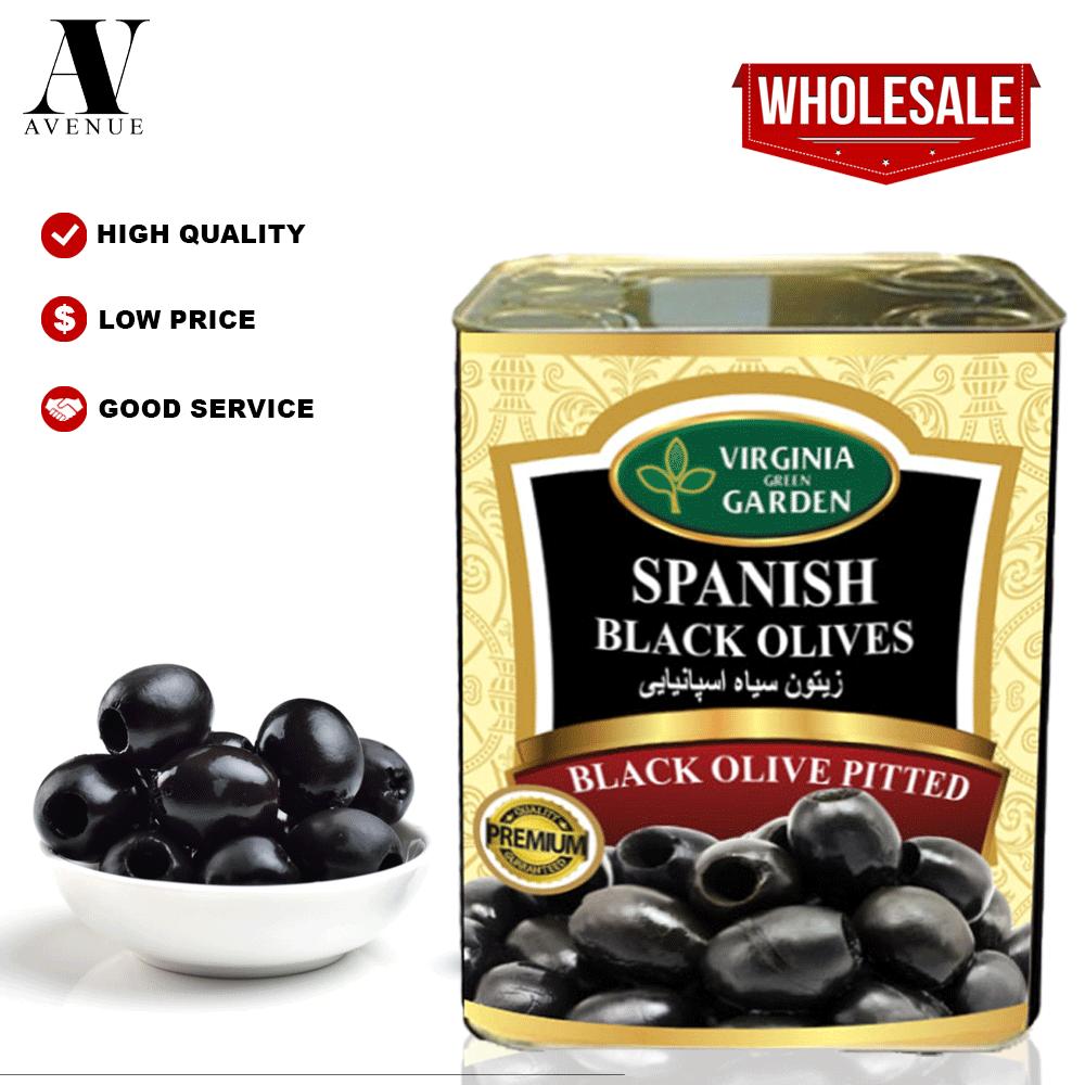 Virginia Green Garden Pitted Black Olives 4 kg زيتون أسود مخلي