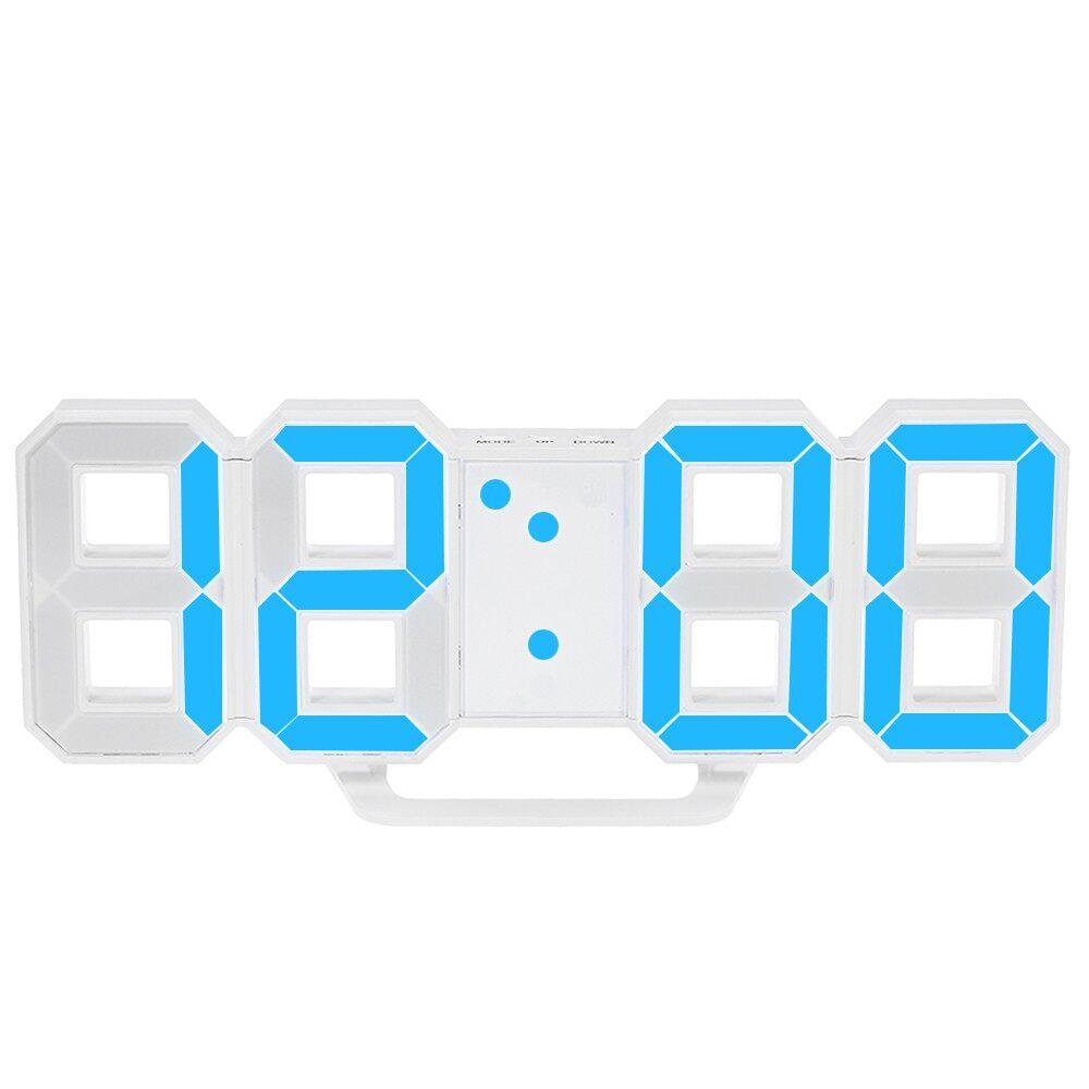 Clocks - Multifunctional Large LED Digital Wall Clock 12H/24H Time Display - GREEN / BLUE / RED