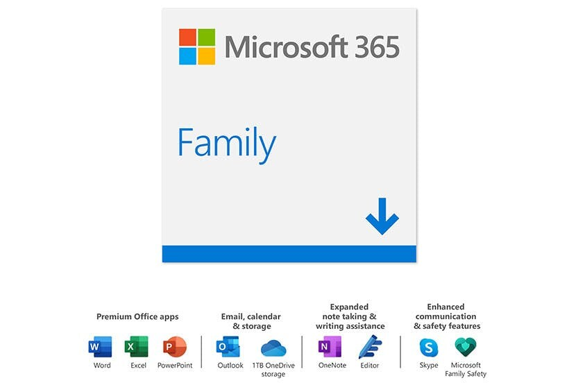 Software Microsoft Office 365 Family 2019 ESD, Include Wold, Excel, Power Point & Outlook -Activation in Malaysia Only