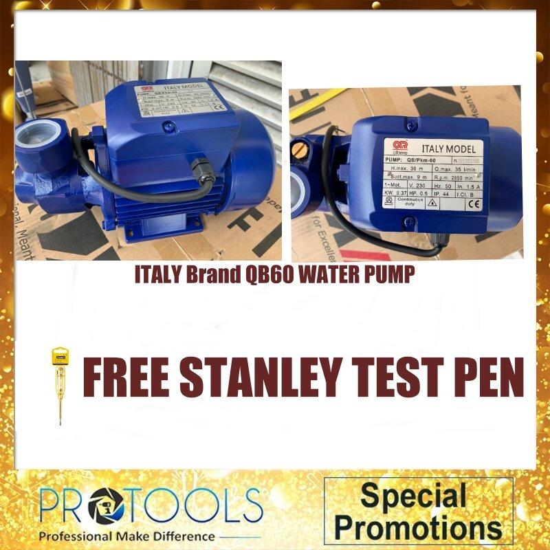 PROTOOLS 0.5HP Qb60 Electric Water Pump FOC NIETZ N10 X 1 UNIT (Qmax 28L /min)