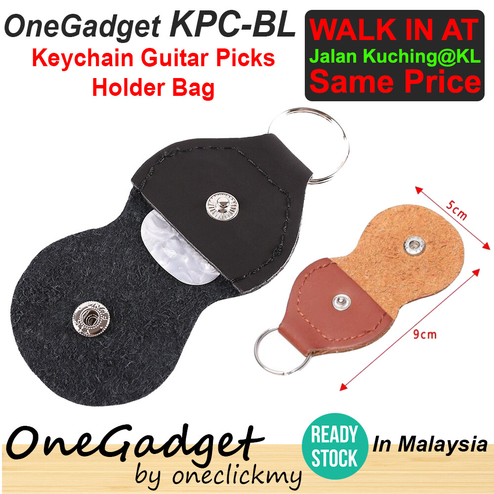 [READY STOCK] Onegadget KPC-BR Guitar pick bag Alice D'addario Elixir Ziko Acoustic Guitar Black Brown Keychain Holder