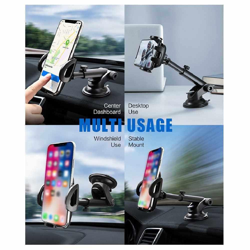 Floveme Windshield Car Phone Holder Dashboard Cell Phone Stand Universal Bracket Black&grey (Bgy)
