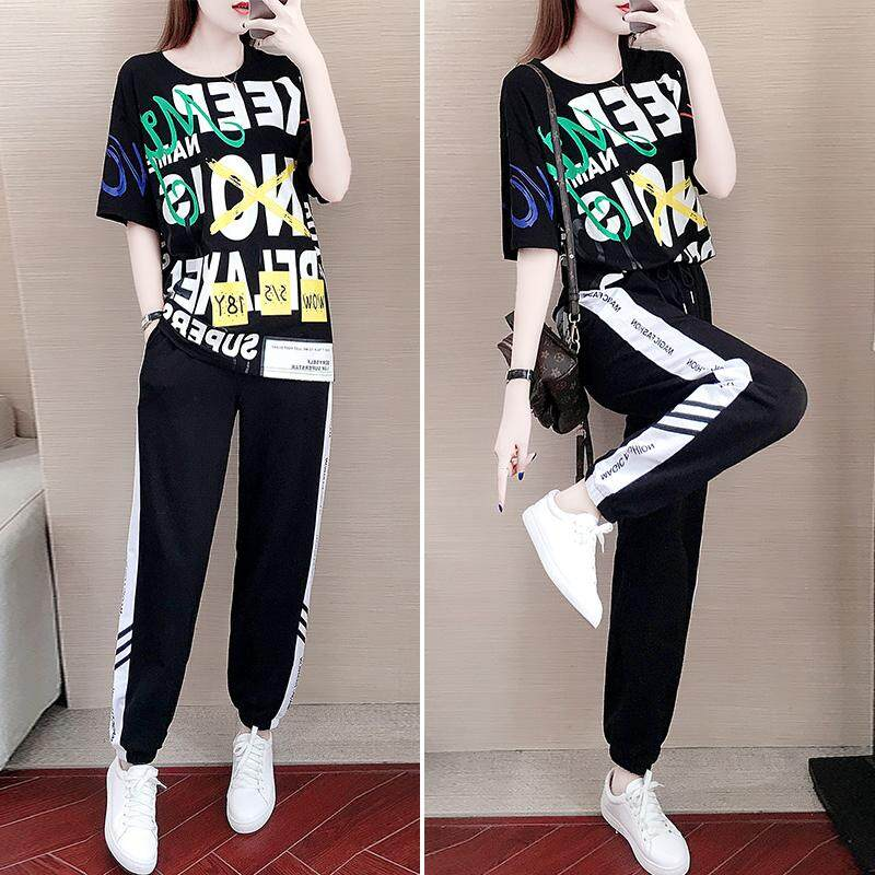 JYS Fashion Korean Style Women Sport Wear Set Collection 328D - 9387