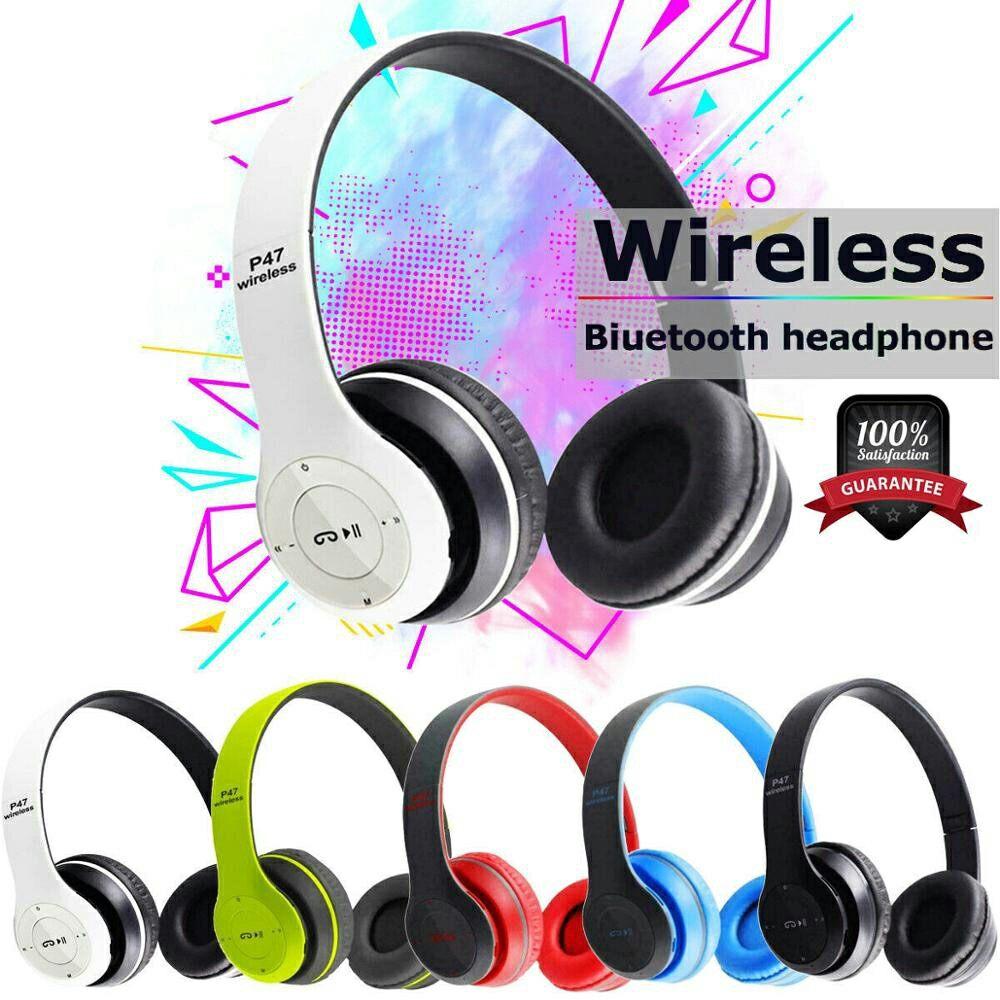 P47 5.0+EDR Wireless Headphone Bluetooth Stereo Music MP3 Player FM Radio Button Control SmartPhone Tablet Phone