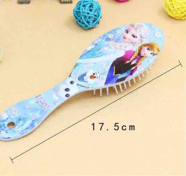 Buy 1 Free 1 Disney Frozen Kids Gentle Anti-static Brush Tangle Bristles Handle Tangle Comb