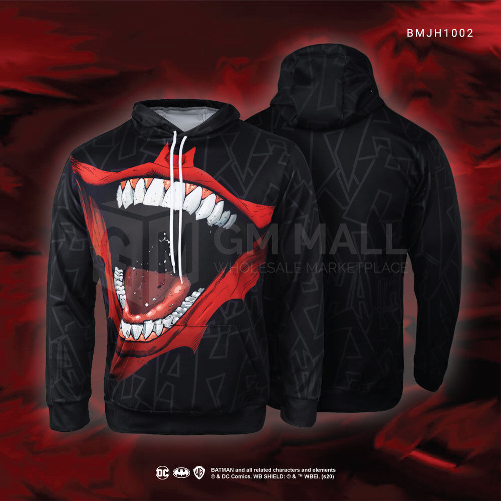 DC JUSTICE LEAGUE Joker Unisex Hoodies - Casual Long Sleeve Jacket Sports Gym Jogging Running Training Hooded Tops [BMJH1002]