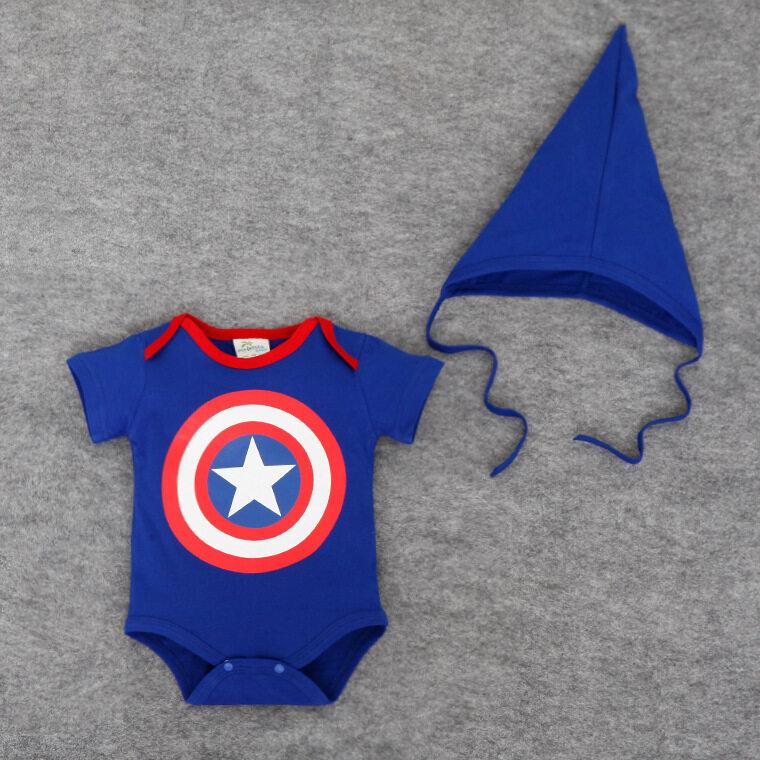 TheCutiesWorld Captain America Series Baby Cloth Set