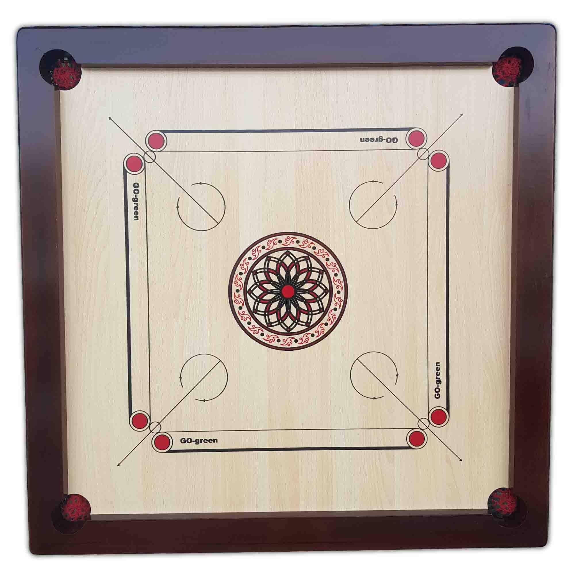 Go-Green Carrom Board (20 MM plywood, Frame Size:890 X 890 X 40mm)