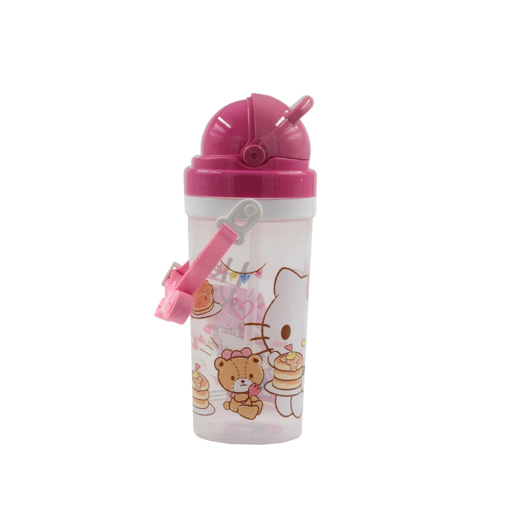 Hello Kitty Its Snack Time! BPA Free Kids Water Bottle 500 ML with Pop-Up Straw