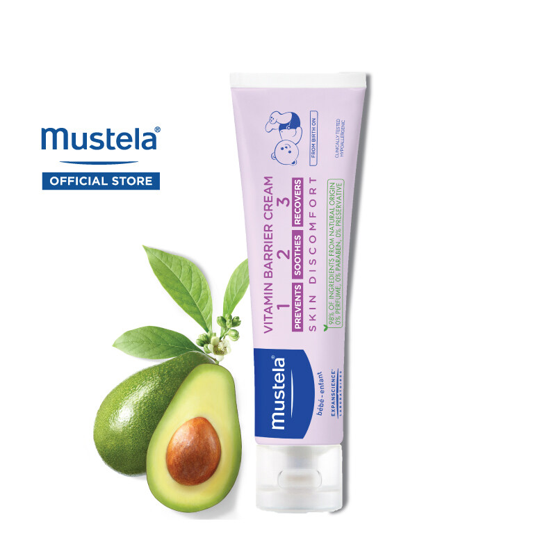 MUSTELA Vitamin Barrier Cream for All Skin Types (100ml)