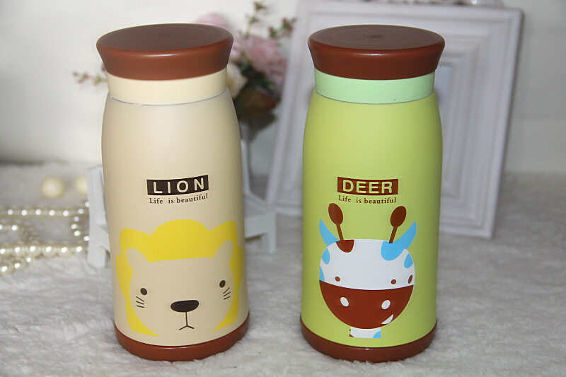 Cute Animal Vacuum Baby Thermal Flask Bottle (READY STOCK)