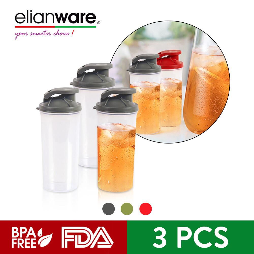 Elianware 3Pcs BPA FREE 350ML Protein Powder Shaker Blender Tumbler