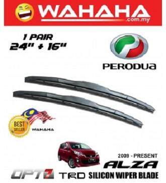 Perodua Alza U Shape OPT7 Window Windshield TRD Silicon Wiper Blade 24 +16