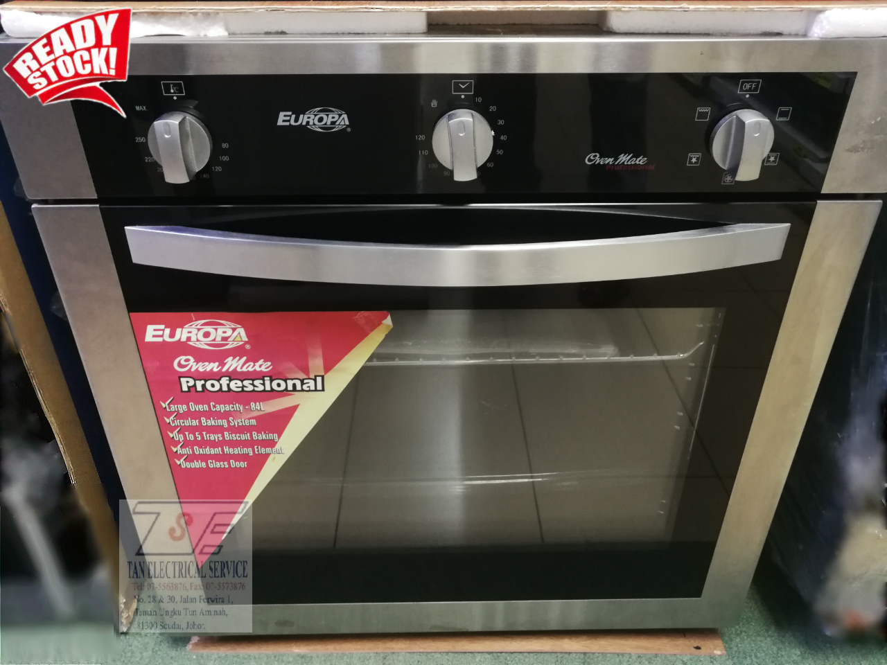 (DISPLAY UNIT) Europa Oven Mate Professional Convection Electric Oven 84L