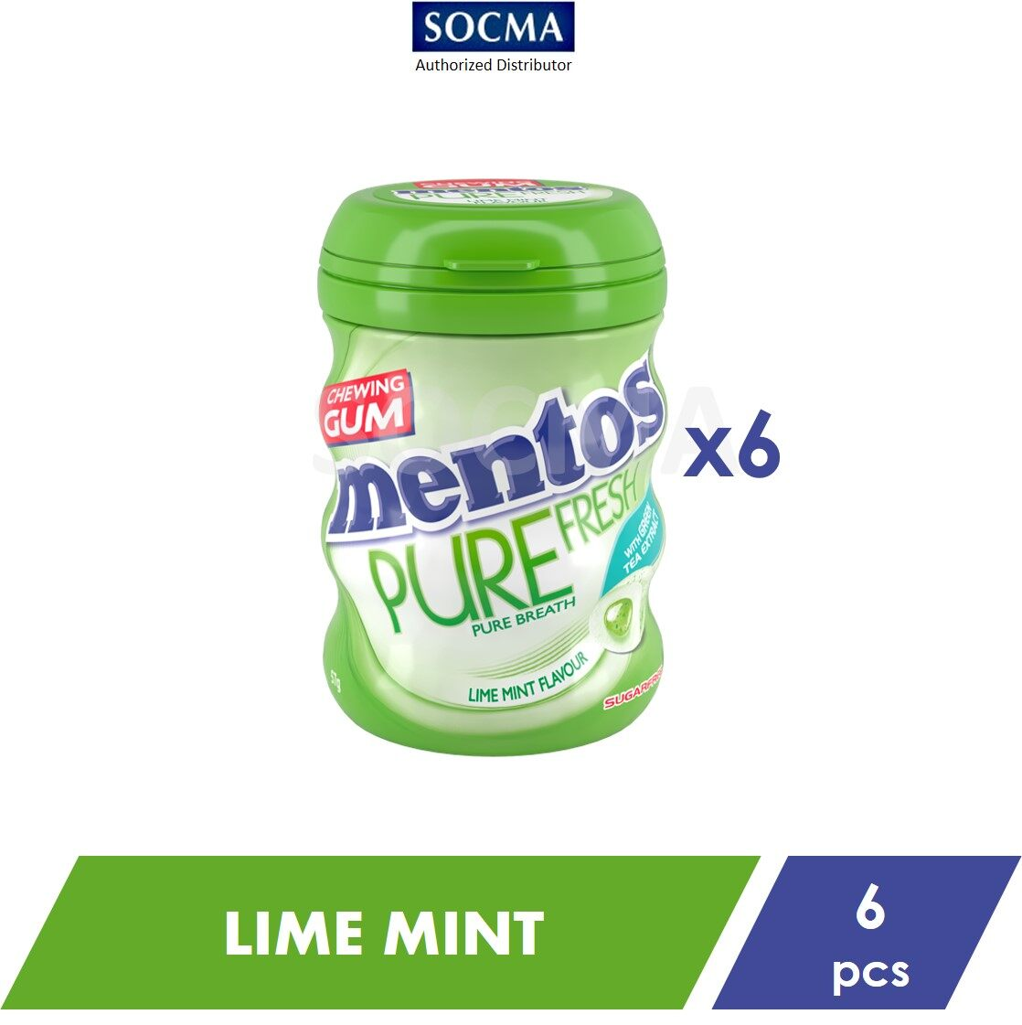 Mentos Pure Fresh French Bottle Lime Mint 57G [6]